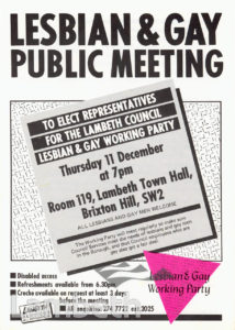 LESBIAN & GAY MEETING, LAMBETH TOWN HALL