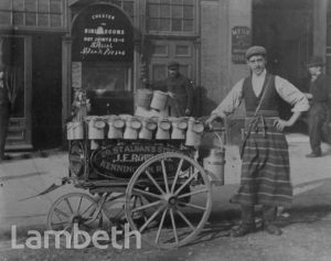 MILKMAN WITH CART, CHESTER STREET, LAMBETH
