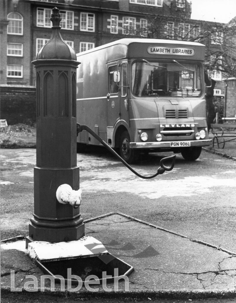LIBRARY VAN AND PUMP, FERNDALE ROAD, BRIXTON