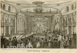ROYAL CIRCUS INTERIOR, WESTMINSTER BRIDGE ROAD, LAMBETH