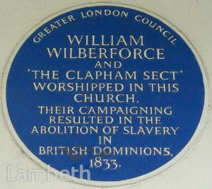 WILLIAM WILBERFORCE PLAQUE, HOLY TRINITY, CLAPHAM