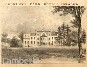 CRAWLEY'S, PARK HOTEL, CENTRAL HILL, NORWOOD