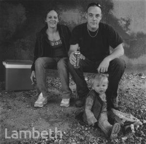 FAMILY PICNIC, THAMES FORESHORE, SOUTH BANK