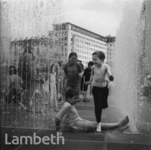 CHILDREN IN FOUNTAINS, SOUTH BANK