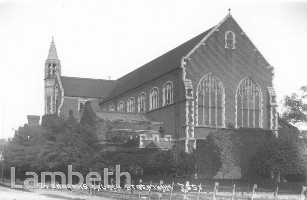 ST ANDREW'S CHURCH, GUILDERSFIELD ROAD, STREATHAM