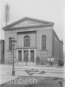 CLAYLANDS CONGREGATIONAL CHAPEL, CLAYLANDS ROAD, KENNINGTON