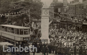 CLOCK TOWER UNVEILING, CLAPHAM HIGH STREET