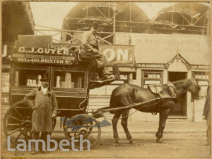 G.J.GUYER DELIVERY CARRIAGE, POPES ROAD, BRIXTON