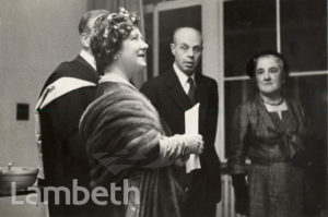 QUEEN MOTHER, MORLEY COLLEGE OPENING, LAMBETH NORTH