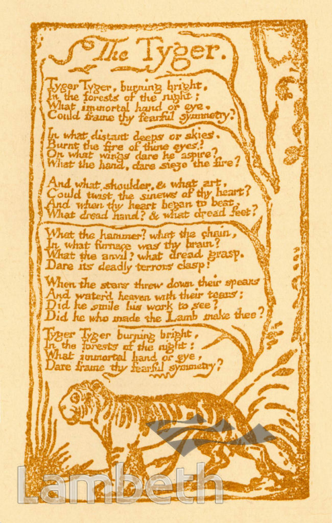 'THE TYGER' BY WILLIAM BLAKE