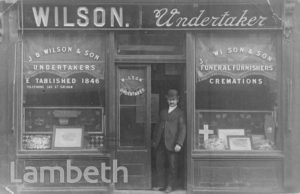 J.B.WILSON, UNDERTAKER, HIGH STREET, WEST NORWOOD
