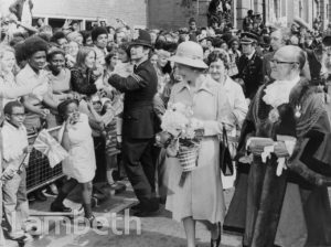 QUEEN'S ROYAL VISIT, BRIXTON