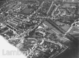 AERIAL VIEW OF CLAPHAM COMMON