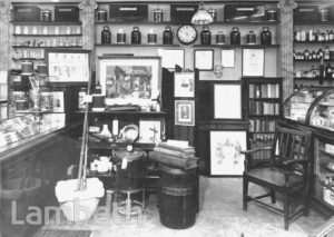DEANE'S CHEMIST INTERIOR, THE PAVEMENT, CLAPHAM