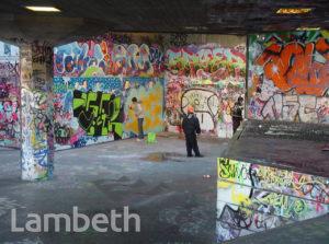 GRAFFITI ARTISTS, SOUTH BANK, WATERLOO