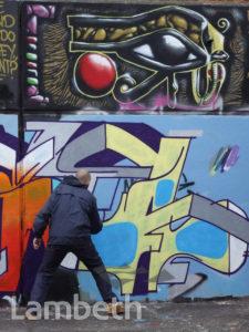GRAFFITI ARTIST, AYTOUN STREET, STOCKWELL