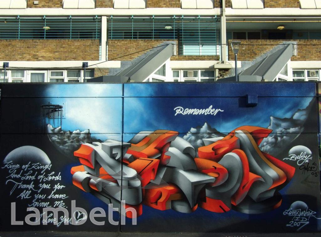 LOVEPUSHER GRAFFITI, AYTOUN STREET, STOCKWELL