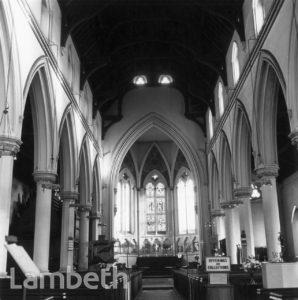 ST BARNABAS CHURCH INTERIOR, GUILDFORD ROAD, SOUTH LAMBETH