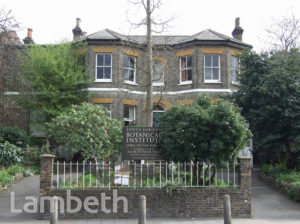 SOUTH LONDON BOTANICAL INSTITUTE, NORWOOD ROAD, TULSE HILL