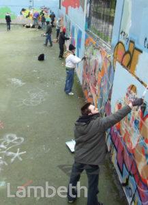 GRAFFITI ARTISTS, AYTOUN ROAD, STOCKWELL