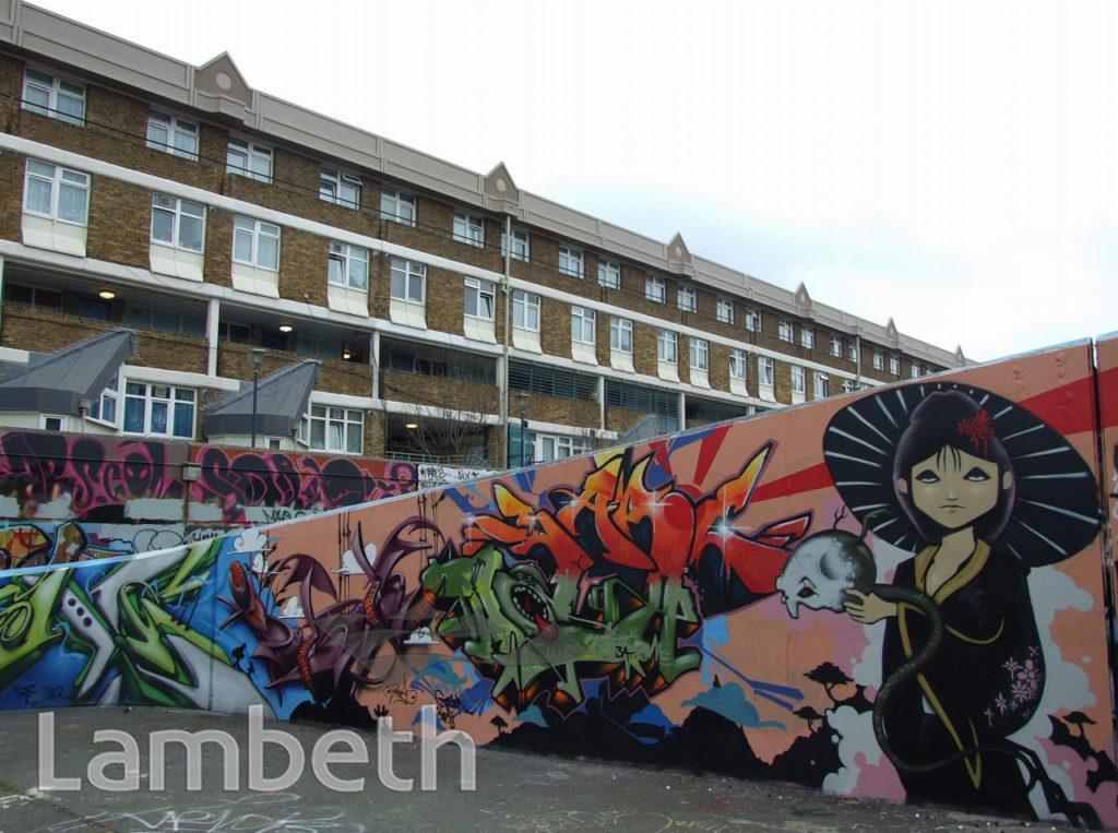 GRAFFITI ARTWORKS, AYTOUN ROAD, STOCKWELL