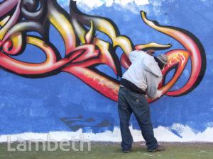 GRAFFITI ARTIST, AYTOUN ROAD, STOCKWELL