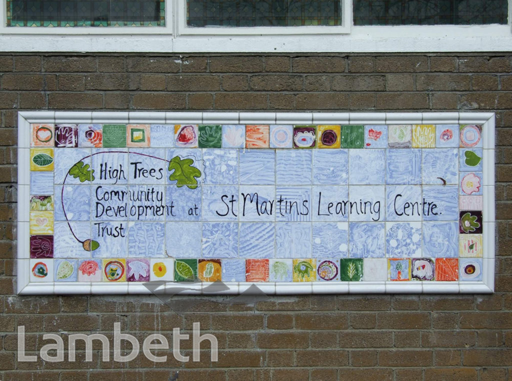 HIGH TREES TRUST, ST MARTIN'S LEARNING CENTRE, TULSE HILL