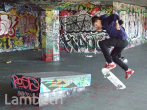 SKATEBOARDER, SOUTH BANK
