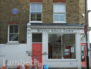 BRIXTON ADVICE CENTRE, 165 RAILTON ROAD, HERNE HILL