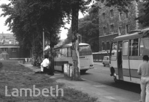 TOURIST BUSES, LAMBETH PALACE ROAD
