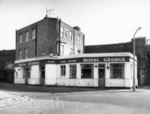 ROYAL GEORGE PUBLIC HOUSE, CARLISLE LANE, LAMBETH