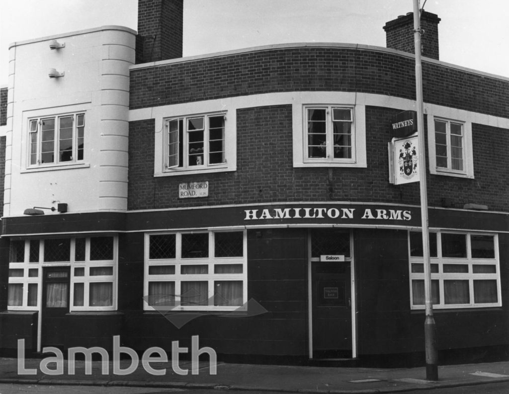 HAMILTON ARMS PUBLIC HOUSE, RAILTON ROAD, HERNE HILL