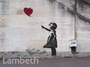 BANKSY ARTWORK, WATERLOO BRIDGE, SOUTH BANK