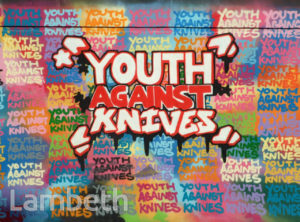 'YOUTH AGAINST KNIVES' ARTWORK, AYTOUN ROAD, STOCKWELL