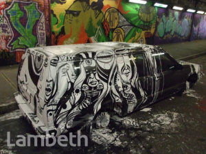 LUCY McLAUGHLAN ARTWORK, LEAKE STREET, WATERLOO