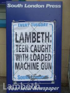 TEENAGE GUN CRIME HEADLINE, VAUXHALL