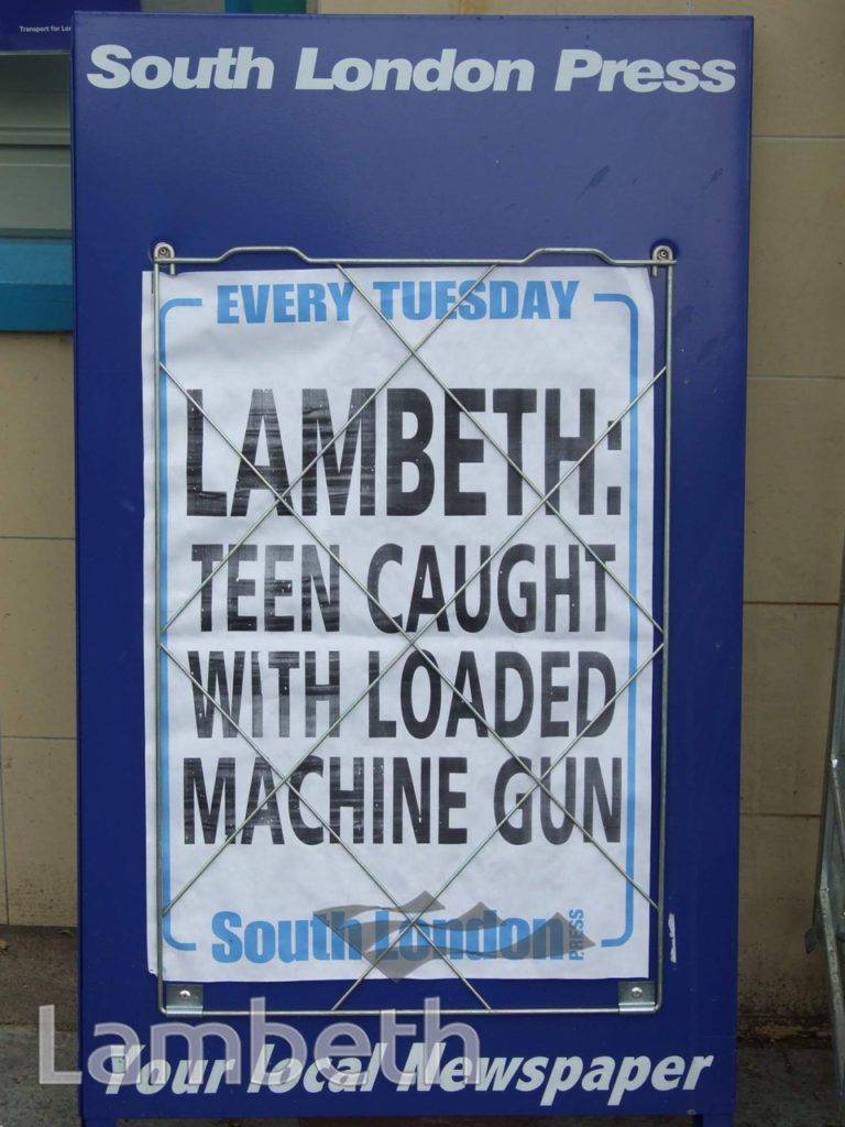 TEENAGE GUN CRIME HEADLINE, VAUXHALL