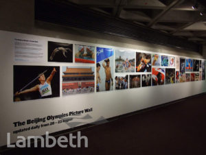 BEIJING OLYMPICS PICTURE WALL, NATIONAL THEATRE, SOUTH BANK