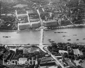 AERIAL VIEW, LAMBETH BRIDGE OPENING
