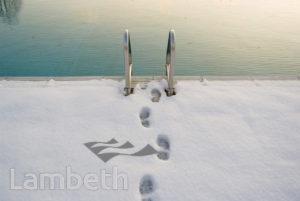 SNOWFALL, BROCKWELL PARK LIDO, HERNE HILL