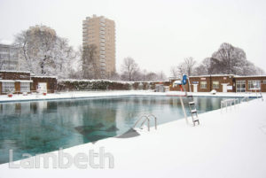 BROCKWELL PARK LIDO UNDER SNOW, HERNE HILL