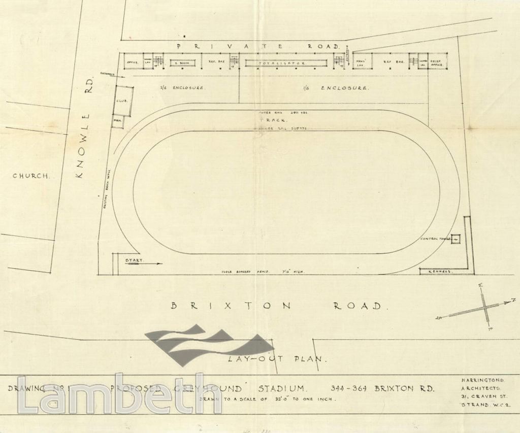GREYHOUND STADIUM, 344-364 BRIXTON ROAD, BRIXTON