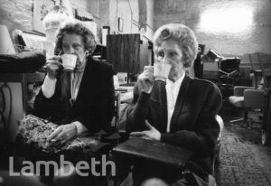 LADIES TAKING TEA, SECONDHAND STALL, BRIXTON MARKET