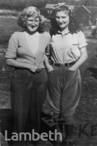 LAND ARMY WOMEN, HOP PICKERS' CAMP, KENT