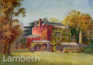 JOHN RUSKIN'S HOUSE, 163 DENMARK HILL, CAMBERWELL