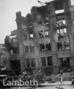 BOMB DAMAGE, HAYWARD'S FACTORY, MONTFORD PLACE, KENNINGTON
