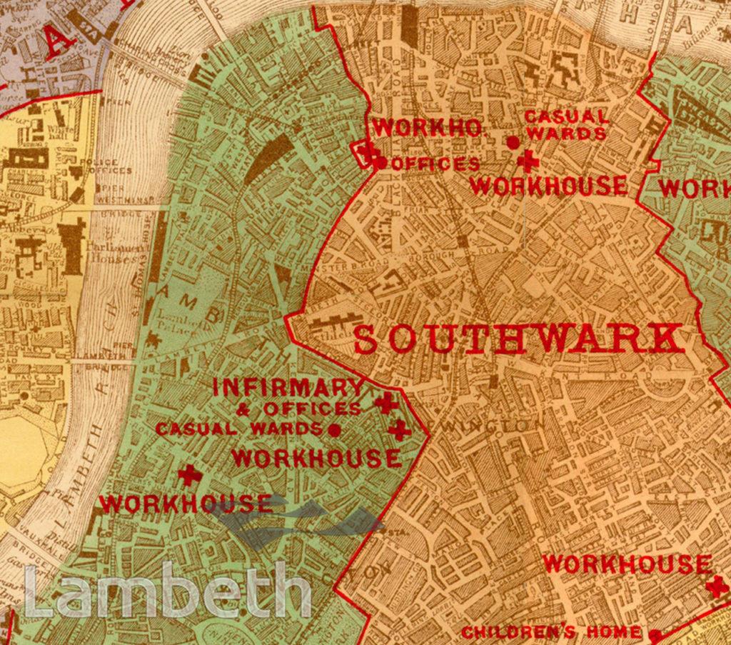 POOR LAW MAP, NORTH LAMBETH