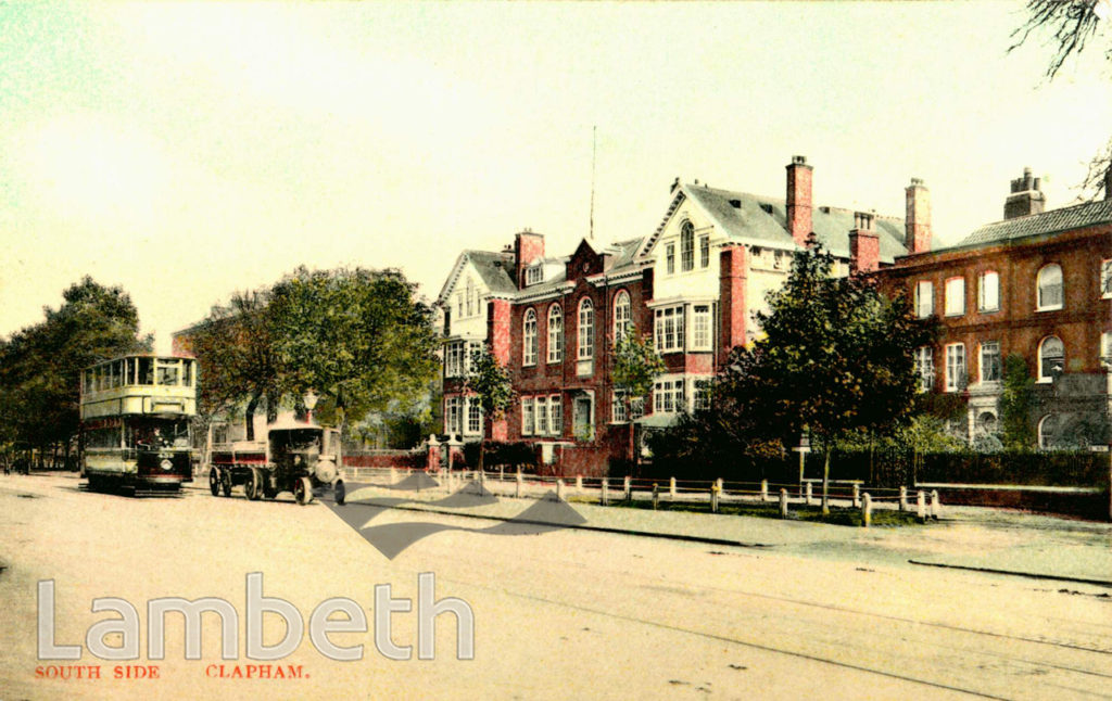CLAPHAM HIGH SCHOOL FOR GIRLS, CLAPHAM COMMON SOUTH SIDE