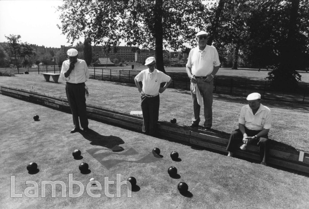 BOWLS PLAYERS, BROCKWELL PARK, HERNE HILL