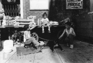 STALLHOLDERS' CHILDREN, BRIXTON MARKET, BRIXTON